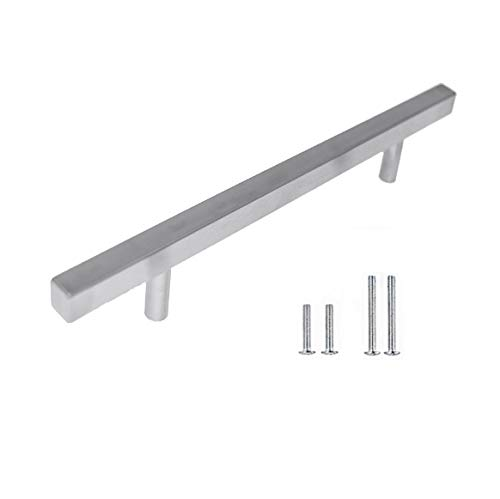 Pandora - Square Pull Bar Handle Stainless Steel for Drawer Kitchen Cabinet Hardware - 24 inch ()