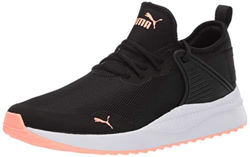 (PUMA Women's Pacer Next Cage Sneaker, Black Bright Peach, 11 M US)