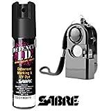 Spray De Défense Sabre Usa 19 Ml + Alarme Personnelle 120Db Self Defense