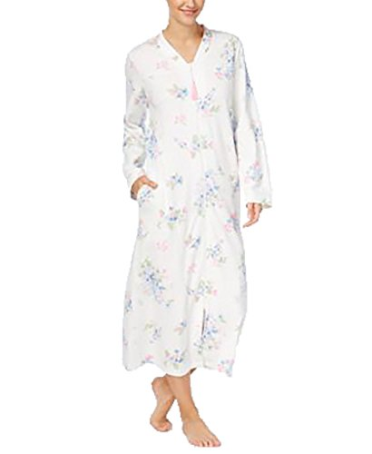 - Charter Club Long Cotton Robe, Only at Macy Fall Floral XS