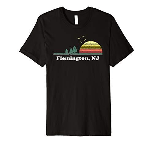 Vintage Flemington, New Jersey Home Souvenir Print Premium T-Shirt (Shops Flemington)