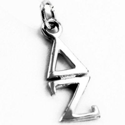 Sterling Silver Delta Zeta Lavaliere Charm