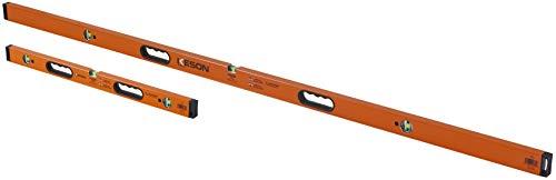 (Keson LKB7832 Aluminum Box Beam Level Jamb Set with 3 20% Magnified Vials, 32 & 78-Inch)
