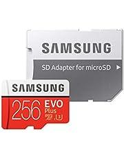 Samsung EVO Plus 256 GB microSDXC UHS-I U3 Memory Card with Adapter
