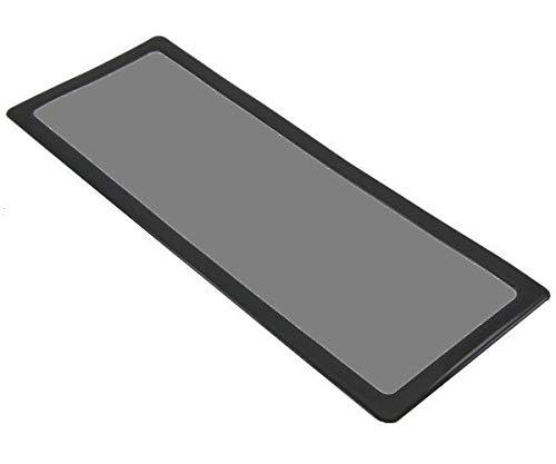 DEMCiflex Computer Dust Filter, 3 x 120mm OD Rectanlge, Black Frame, Black Mesh by DEMCiflex