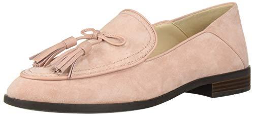 Cole Haan Women's Pinch Soft Tassel Loafer Flat, Misty Rose Suede, 7.5 B US