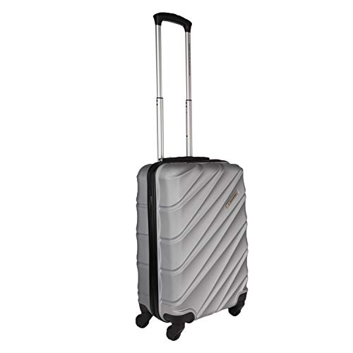 LD United Colors of Benetton Roadster Hardcase Luggage ABS 57 cms Silver Grey Hardsided Cabin Luggage 0IP6HAB20B02I