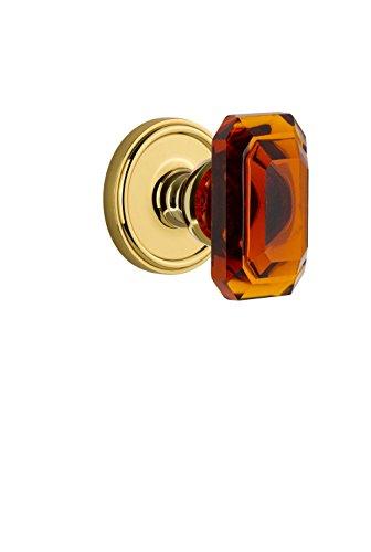 (Grandeur 828085 Georgetown Rosette Dummy with Baguette Crystal Knob in Lifetime Brass)
