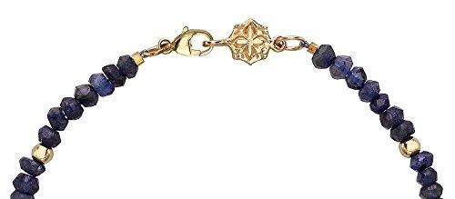 Dower & Hall femme  9carats (375/1000)  Or jaune|#Gold Rond   Bleu Saphir Diamant FINENECKLACEBRACELETANKLET