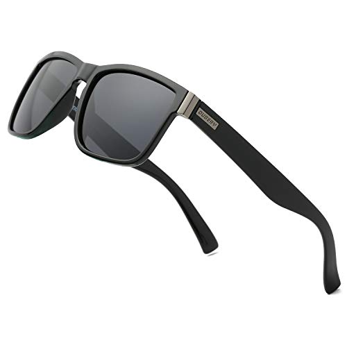 DUBERY Vintage Polarized Sunglasses for Men Women Retro Square Sun Glasses D518, ()