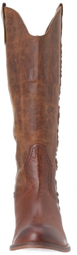 Lucchese Womens Avery Tule Tan Ronde Neus 14 Rijlaars S4040