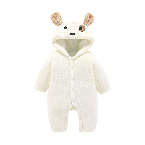 (Baby Hooded Romper Winter,Leegor Sale Newborn Toddler Girls Boys Long Sleeve Fluffy Jumpsuit Outfits Clothes)