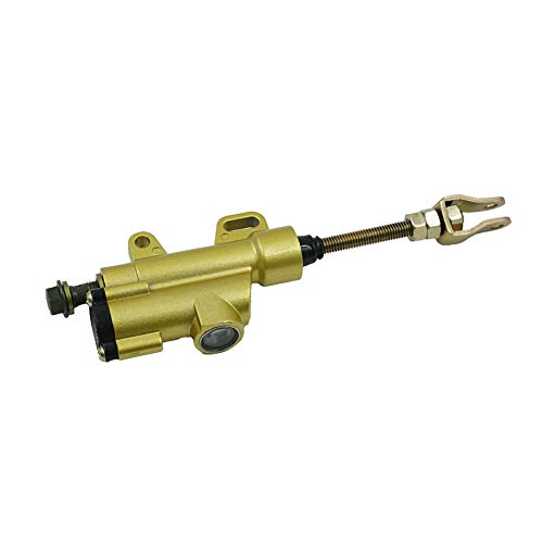(Easy to Install Motorcycle Universal Cylinder Rear Foot Hydraulic Brake Master Cylinder Pump for Sport Bike Dirt Pit Bike ATV Useful ( Color : Gold ))