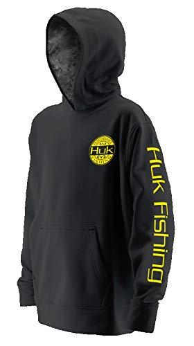 Huk Youth Tidewater Hoodie, Black/SubPhantis Night Vision, Youth Small