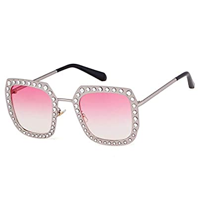 NEW Oversized Square Rhinestone Sunglasses Women Vintage Diamond Metal Frame Pink Sun Glasses Shades OM606