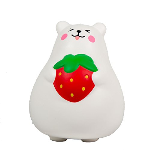 8947077df0a76 IBloom Marshmallow Bear Squishy Mr White Red Strawberry Smile ...