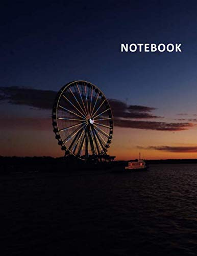 College Ruled Notebook: The Capital Wheel Practical Student Composition Book Daily Journal Diary Notepad for remembering a trip on the carousel at national ()
