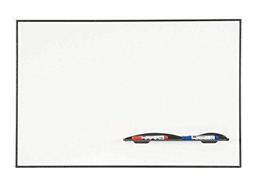 Balt Magnetic Porcelain Steel Dry Erase Q Tray Markerboard Ultra Trim Black 2'H x 3'W electronic consumers by Brandz
