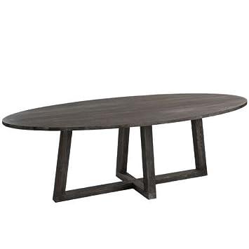 j line grande table ovale moka bois fonc - Grande Table Ovale