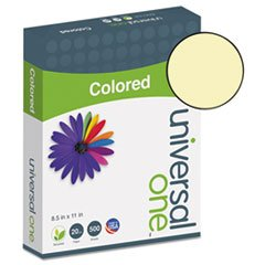 ((6 Pack Value Bundle) UNV11201 Colored Paper, 20lb, 8-1/2 x 11, Canary, 500 Sheets/Ream)
