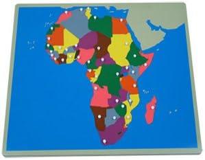 Montessori Puzzle Mapa Africa sin Marco Geografia: Amazon.es: Juguetes y juegos