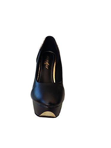 Inception Pro Infinite Zapatos de Mujer Decolte High Stiletto Heel Glittered Black Color LXL-083