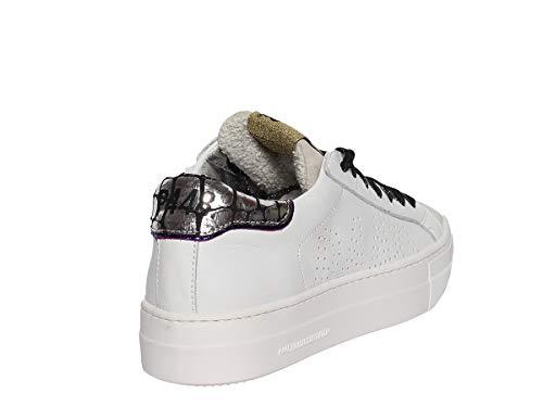 In Laterali Alta Thea Para Rifiniture Pelle Sneaker Con Gomma Camosico P448 Fori Metallizzata Stringate E BW7PgnE