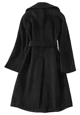 Amazon.com: KLJR Women Loose Fit Notch Lapel Trench Coats