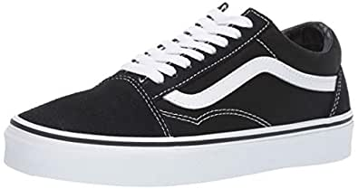 Vans Old Skool Sneakers, Unisex, Black/White,5 US Men / 6.5 US Women