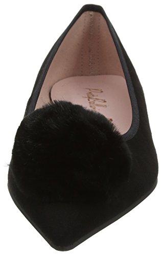 Pretty Ballerinas Ella, Ballerine Donna Black (Angelis Negro Fur Negro)