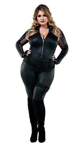 Secret Agent Costumes (Starline (STNGW) Costume Plus Size S8026X-2X, Black,)