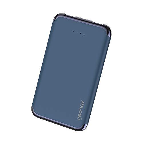 Carregador Portátil Universal 6.000mAh, 2 portas USB 2.1A, Led Indicador de bateria, Azul, PB6KMB,Geonav