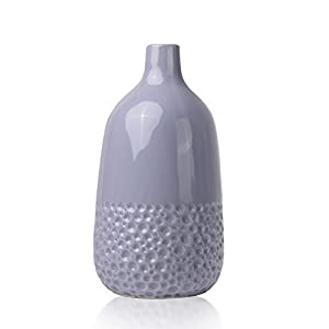 Hannah's Cottage Vases à Fleurs en Céramique, 24cm Violet Vase Décoratif à la Main Moderne pour Salon, Cuisine, Table, Maison, Bureau, Mariage, Pièce Maîtresse ou comme Cadeau