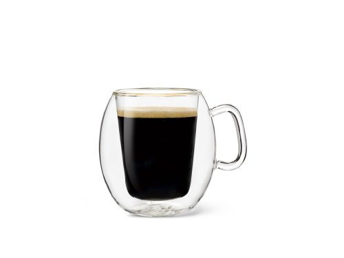 Luigi Bormioli Thermic Suprimo Coffee Mug, 10-1/4-Ounce, Set of 2 ()