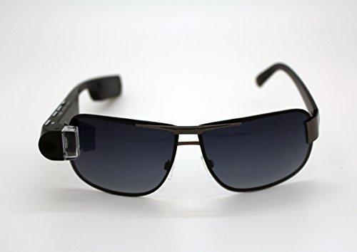 DigiOptix 16G smart glasses with Changeable Frame Sunglasses (Polarized lense) 1080P hd video Bluetooth Smart Camera Glasses