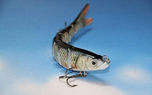 Colour 1 Cushy 14 cm 26 g 8 Sections Minnow Herring Swimbait HardLifelike Bass Muskie Pike Lure Fishing Plating