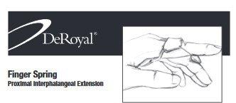 LMB Acu-Spring Finger Extension Assist Size: Size C, length 3.375' (8.6cm) - Model 703902