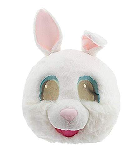 Rabbit Mascot Head (Plush Rabbit Animal Head Mask Halloween Rabbit Mascot Costume)