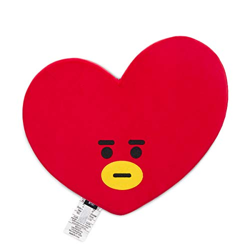 BT21 Official Merchandise by Line Friends - TATA Character Face Sitting Cushion Seat Floor Couch Pillow, Red