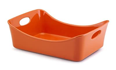 Rachael Ray Stoneware 9-Inch by 13-Inch Rectangular Lasagna Lover Pan