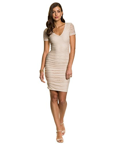 Lace Cocktail Dress,XS,Natural (Chateau Cocktail)
