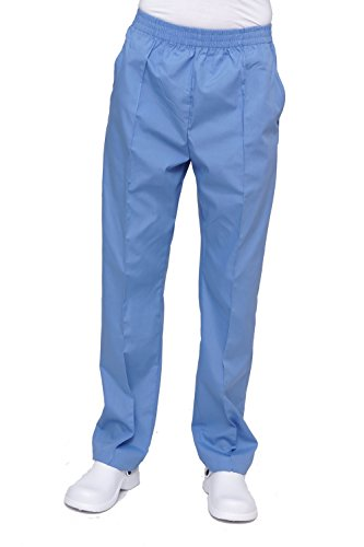 Lizzy B Elastic Scrub Pants, Light Blue, L (Lizzy One Light)