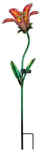 Regal Solar Tiger Lily Stake - Red