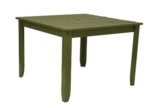 Shine Company Square Dining Table, 42-Inch, Sage Green
