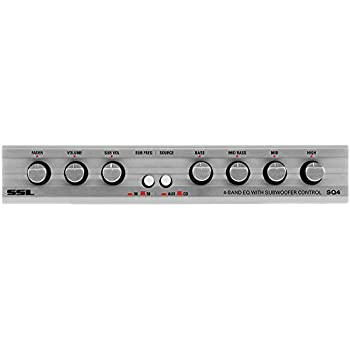 Soundstorm SSL S4EQ 4 Band Pre Amp Graphic Car Audio Stereo Equalizer EQ w// Knob