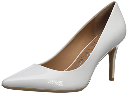 Calvin Klein Women's Gayle Pump, Platinum White Patent, 7.5 Medium US ()
