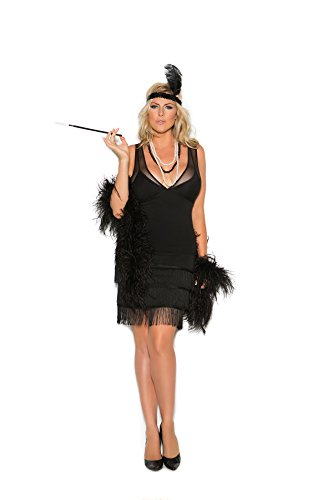 Women's Plus Size Sexy Fringed Flapper Cosplay Costume Set - Speakeasy Flapper Costume