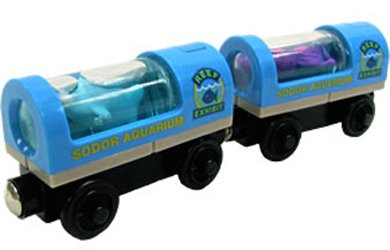 Thomas and Friends Wooden Railway System: Aquarium Cars (Wooden Car Tank)