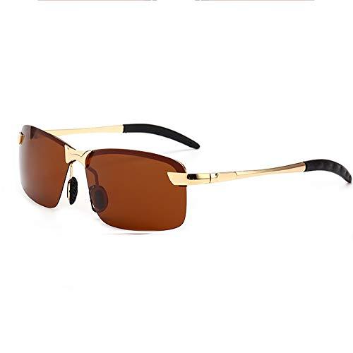 para Gafas Polarizadas Marco 100 Irrompible UV400 con Brown Y De Black De Metal Aili Sol Deportivas Ultraligero Hombre XwqXId