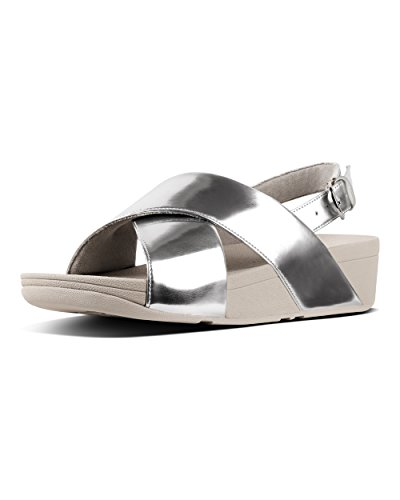Fitflop Women's Lulu Back Mirror Ankle Strap Sandals Silver (Silver Mirror 300) outlet recommend clearance really excellent QFd2N